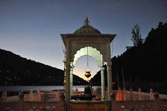 Travel- Nainital (Uttarakhand) - Nainital, Uttarakhand, India- November 11, 2015: Shivling at Naina Devi Temple, the temple devoted to Maa Naina Devi is situated right on Naini Lake near Flat at Mallital, Nainital, Uttarakhand, India by Anil