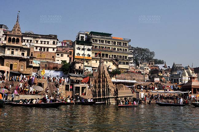 Travel- Varanasi the city of light (India) - Manikarnika Ghats is the main Traditional Hindu cremation place where Hindus bodies are cremated at Varanasi, Uttar Pradesh, India. by Anil