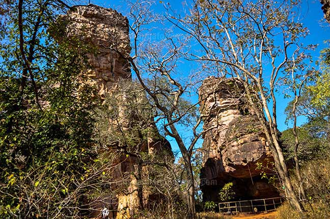 Archaeology- Bhimbetka Rock Shelters (India) - View of Rock Shelters at Bhimbetka archaeological site at Raisen District, Madhya Pradesh, India. by Anil Sharma Fotography
