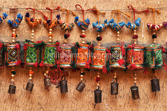 Festivals- Jaisalmer Desert Festival, Rajasthan - Handicraft items for sale at the Jaisalmer Desert festival. by Anil