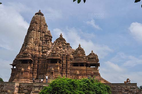 Monuments-  Khajuraho Temples (Madhya Pradesh) - Kandariya Mahadev Temple, built in AD 1025-50 at Khajuraho, Madhya Pradesh, India. by Anil