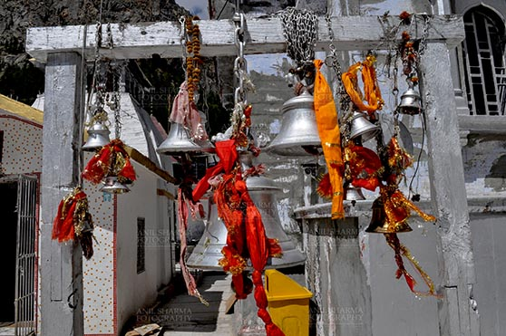 Travel- Gangotri (Uttarakhand) - Gangotri, Uttarakhand, India- May 13, 2015: Bells at Goddess Ganges Temple, Gangotri, Uttarkashi, Uttarakhand, India. by Anil