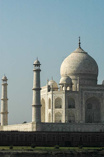 Monuments- Taj Mahal, Agra (India) - Side view of Taj Mahal, the jewel of Muslim art in India at Agra, Uttar Pradesh, India. by Anil