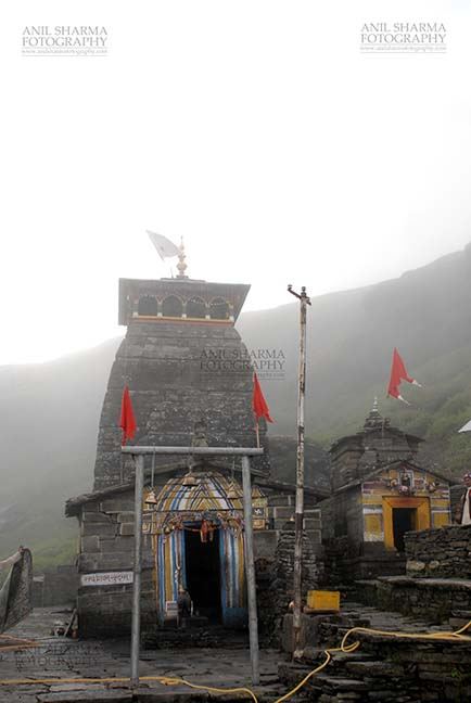 Religion- Tungnath Temple, Uttarakhand (India) - Tungnath, Chopta, Uttarakhand, India- August 18, 2009: Tungnath Temple complex in mist  at Tungnath, Chpota, Uttarakhand, India. by Anil