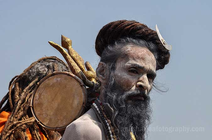 Culture- Naga Sadhu\u2019s (India) - A long hairs Naga Sadhu with trishul at Varanasi. by Anil Sharma Fotography
