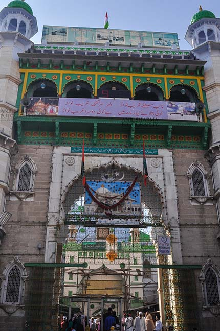 Religion- Dargah Sharif, Ajmer, Rajasthan (India) - Outside view of Ajmer Sharif Dargah the Mausoleum of Moinuddin Chishti, a sufi saint from India at Ajmer, Rajasthan, India. by Anil