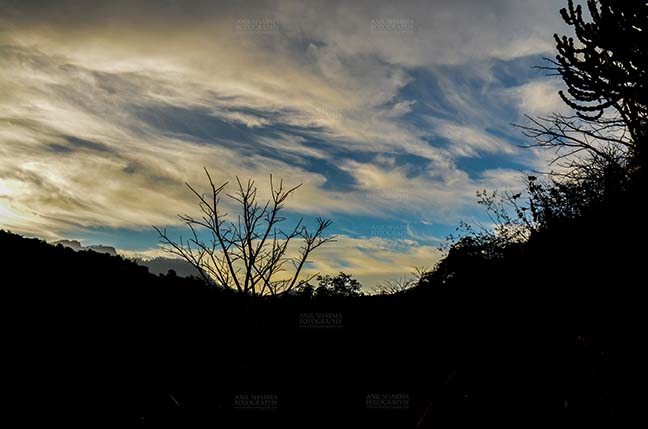 Clouds- Sky with Clouds (Lansdowne) - Clouds over Lansdowne, Uttarakhand, India- November 24, 2016: Blue sky with white clouds early in the morning over Lansdowne, Uttarakhand, India. by Anil