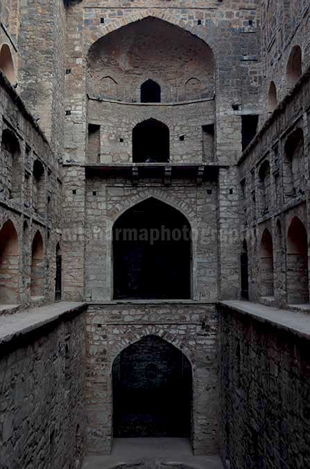 "Monuments: Agrasen ki Baoli or Stepwell at New Delhi - The picture of historic ""Agrasen Ki Baoli"" (Baoli means step well) at Hailey Road, Connaught Place, New Delhi, India. by Anil"