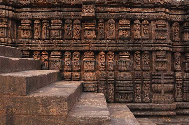 Monuments- Sun Temple Konark (Orissa) - Richly carved sculptures of dancers and musicians, at Konark Sun Temple also known as Black Pagoda, at Bhubaneswar, Orissa, (India) by Anil