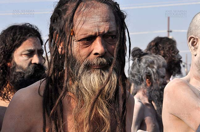 Religion- Naga Sadhu\u2019s at Mahakumbh (India) - A Naga sadhu near camp at Mahakumbh Allahabad, Uttar Pradesh, India. by Anil