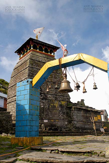 Religion- Tungnath Temple, Uttarakhand (India) - Tungnath, Chopta, Uttarakhand, India- August 18, 2009: Hanging bells at the Tungnath Temple main entrance  at Tungnath, Chpota, Uttarakhand, India. by Anil