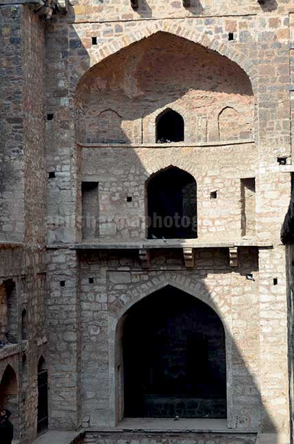 Monuments: Agrasen ki Baoli or Stepwell at New Delhi - Agrasen ki Baoil is a 60-meter long and 15-meter wide historical Step well at Hailey Road near Connaught Place, New Delhi, India. by Anil