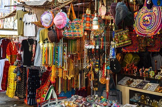 Fairs- Pushkar Fair (Rajasthan) - Pushkar, Rajasthan, India- January 16, 2018: Handicraft  and hand made decorated material market at Pushkar, Rajasthan, India. by Anil