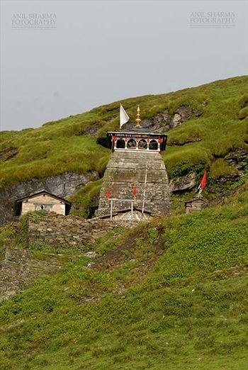 Tungnath, Chopta, Uttarakhand, India- August 18, 2009: Tungnath temple –Tungnath temple lies in the Tungnath mountain range of Rudraprayag district in Uttarakhand, India.