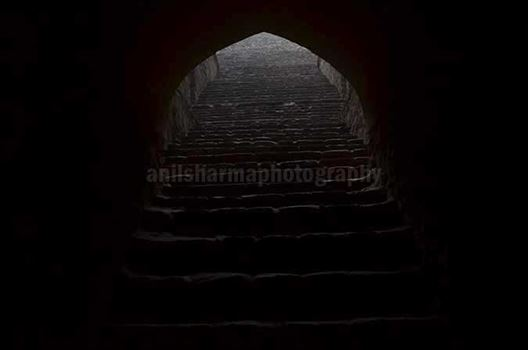 Monuments: Agrasen ki Baoli or Stepwell at New Delhi - The deepest section of the Agrasen ki Baoli at Hailey Road near Connaught Place, New Delhi, India