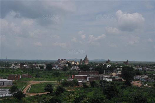 Orchha, Madhya Pradesh, India- August 20, 2012: Chaturbhuj temple View from Laxmi Temple, Orchha, Madhya Pradesh, India.