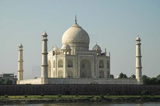 Monuments- Taj Mahal, Agra (India) - The Beauty of Taj Mahal, the jewel of Muslim art in India at Agra, Uttar Pradesh, India.