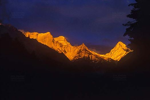Mountains- Sudarshan Peak (India) - Golden Sudarshan Peak in Garhwal Himalayas in Uttarakhand, India.