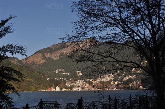 Travel- Nainital (Uttarakhand) - Nainital, Uttarakhand, India- November 11, 2015: A panoramic view of Nainital city from Tallital Bus stand, Nainital, Uttarakhand, India.