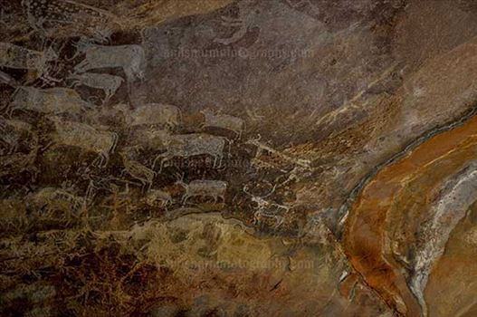 Archaeology- Bhimbetka Rock Shelters (India) - Rock Shelter No. III C-50 or Rock at Bhimbetka archaeological site, Raisen, Madhya Pradesh, India