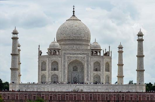 "Monuments- Taj Mahal, Agra (India) - Taj Mahal is ""The Jewel of Muslim Art in India and one of the universally admired masterpieces of the World's Heritage"""