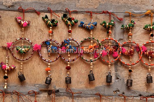 Festivals- Jaisalmer Desert Festival, Rajasthan - Handicraft items for sale at Jaisalmer Desert Festival.