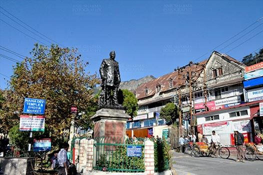 Travel- Nainital (Uttarakhand) - Nainital, Uttarakhand, India- November 11, 2015: Statue of Pt. Govind Ballalbh Pant, (freedom fighter and one of the architects of modern India) at Riksha Stand, Mallital, Nainital, Uttarakhand, India.