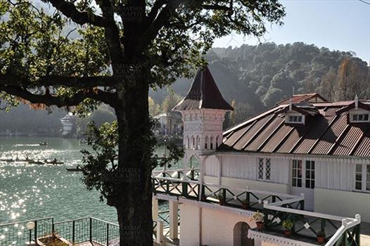 Travel- Nainital (Uttarakhand) - Nainital, Uttarakhand, India- November 13, 2015: The Old House Governer Boat House at Mallital, Nainital, Uttarakhand, India.