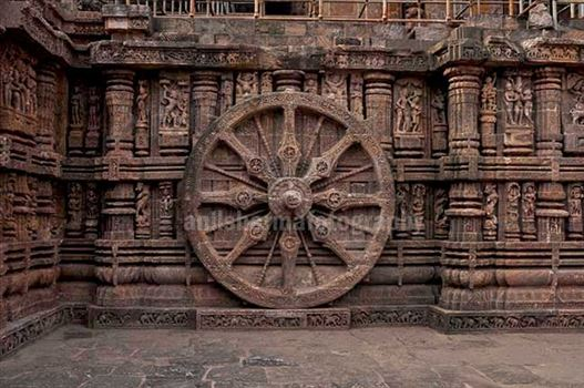 Monuments: Sun Temple Konark (Orissa) - Konark Sun Temple is one of the grandest Temple of India at Bhubaneswar, Orissa, India.