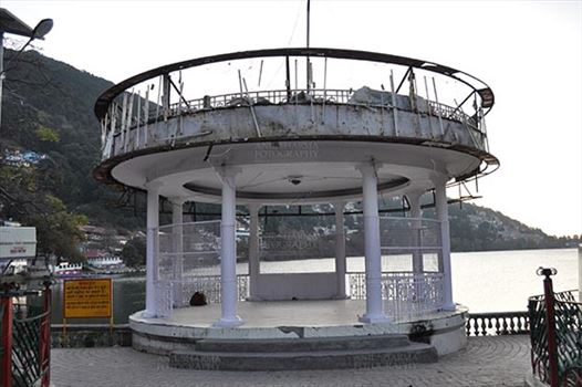 Travel- Nainital (Uttarakhand) - Nainital, Uttarakhand, India- November 11, 2015: Band Stand near Boat House Club at at Mallital, Nainital, Uttarakhand, India.