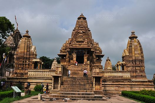 Monuments-  Khajuraho Temples (Madhya Pradesh) - The Khajuraho Group of Monuments is a group of Hindu and Jain temples famous for stone carved erotic sculptures at Khajuraho, Madhya Pradesh, India.