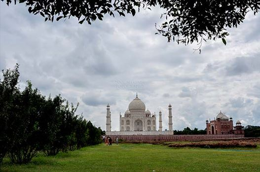 Monuments- Taj Mahal, Agra (India) - The Beauty of Taj Mahal in rainy season at Agra, Uttar Pradesh, India.