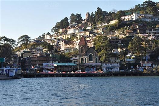 Travel- Nainital (Uttarakhand) - Nainital, Uttarakhand, India- November 11, 2015: Beauty of Tallital area early in the morning view form Mall Road, Nainital, Uttarakhand, India.