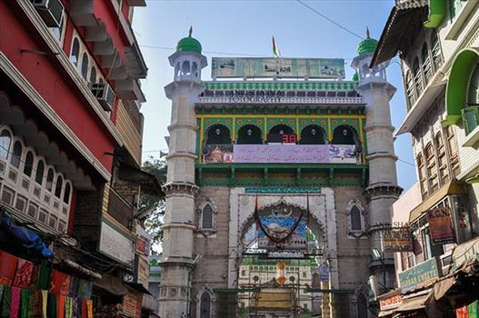 Religion- Dargah Sharif, Ajmer, Rajasthan (India) - Outside view of Ajmer Sharif Dargah the Mausoleum of Moinuddin Chishti, a sufi saint from India at Ajmer, Rajasthan, India.