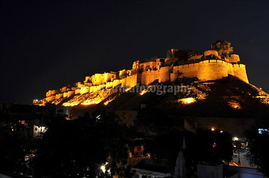 Festivals- Jaisalmer Desert Festival, Rajasthan - The Beauty of Jaisalmer fort in night.