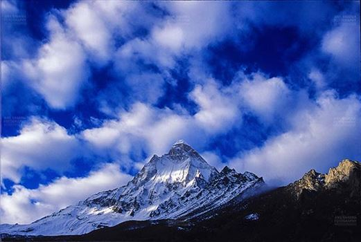 Mountains- Shivling Peak (India) - Shiv Ling Peak at Tapovan in Western Himalayas, Uttarakhand, India.