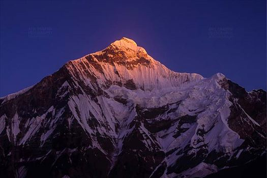 Mountains- Nanda Devi East (India) - Snow covered Golden Nanda Devi East in Kumaon Himalalyas in Uttarakhand, India.