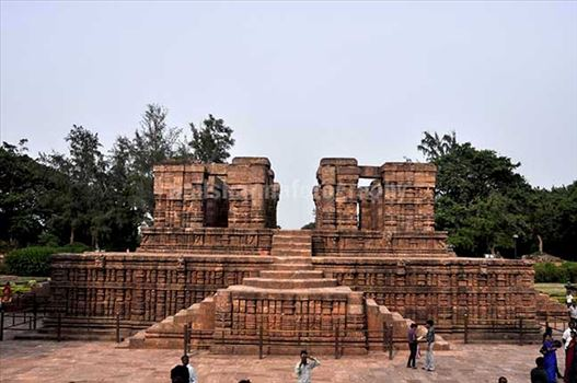 Front view of Nata Mandir at Konark, Orissa, India.
